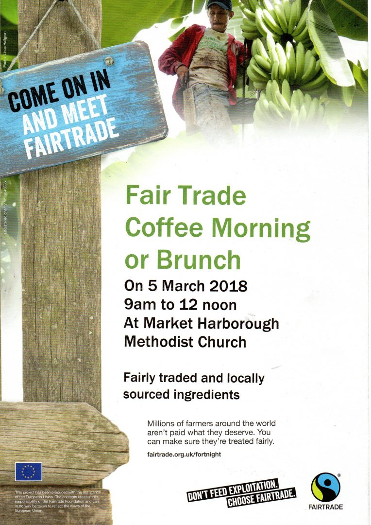 Fair Trade Coffee or Brunch March 2018