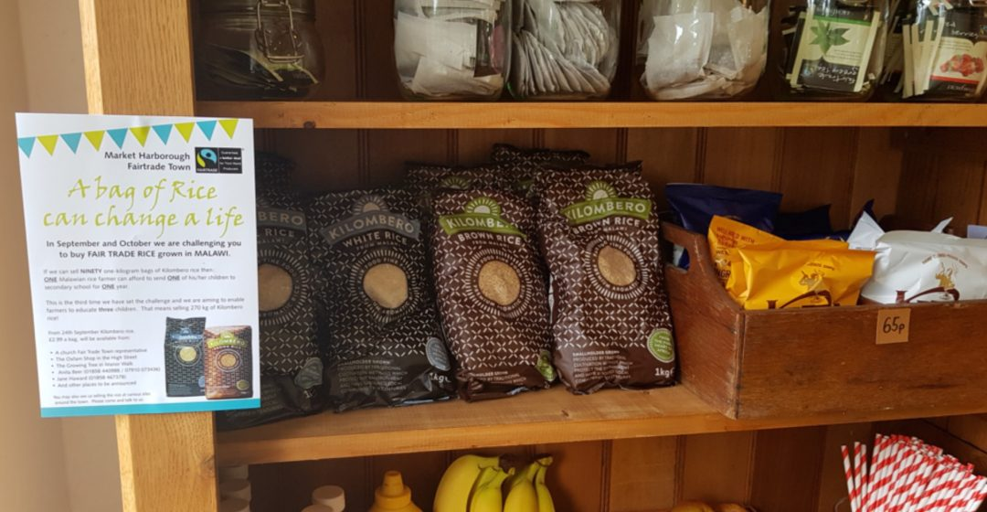 Cafe in the Park – Rice Display